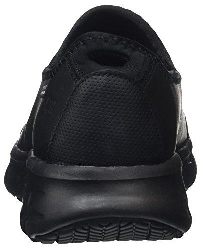 Skechers Ladies Sure Track Safety Shoes, Black Black (bbk)
