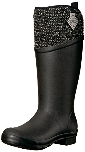 Muck Boot Women's Tremont Supreme Work Boot, Black/Silver, 7 M US by Muck Boot