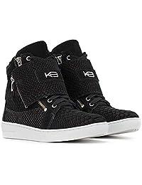Tênis Sneaker K3 Fitness Feminino Breezy em Couro Legítimo