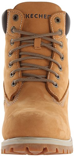 Skechers Mens Rawling-Dorson Lace Up Leather Chukka Work Boot Beige Multicolor - Blé