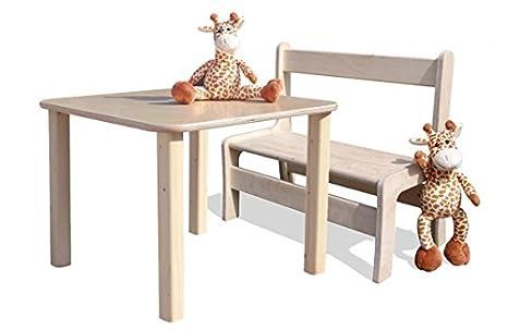 Eli de Kids Lätt 1 banco y 1 mesa - Natural: Amazon.es: Hogar