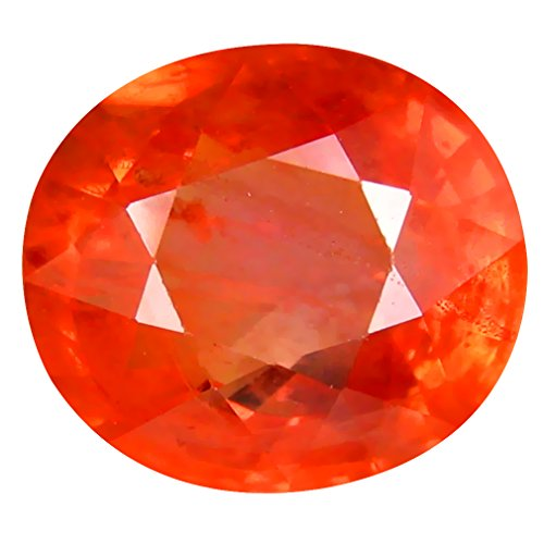 3.09 ct PGTL CERTIFIED OVAL CUT (9 x 8 mm) CEYLON ORANGE SAPPHIRE NATURAL LOOSE - Sapphire Orange Ceylon