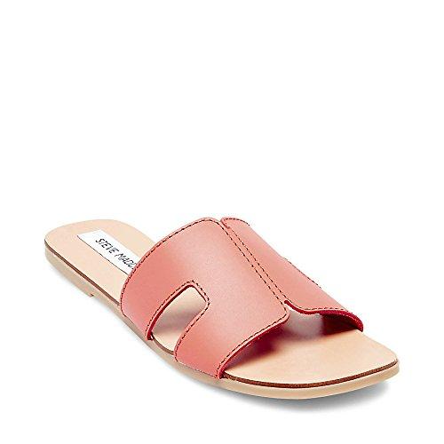Steve Sandal Sayler Madden Women's Leather Coral BH0rzBZn