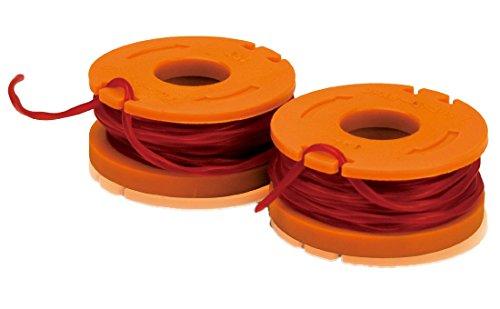 WORX WA0004 Replacement 10-Foot Grass Trimmer/Edger Spool Line 2-Pack for WG150s, WG151s, WG152, WG155, WG165, WG166, WG160, WG167, (String Grass)