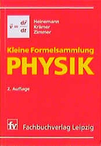 Kleine Formelsammlung PHYSIK