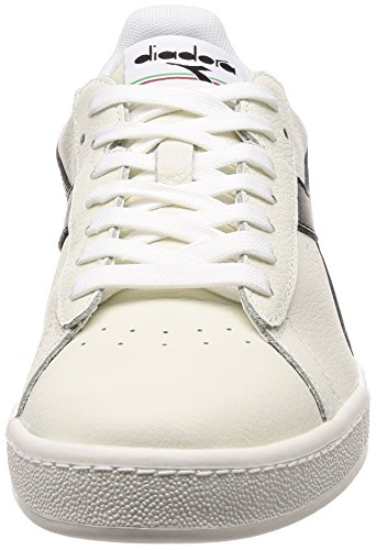 Diadora Chaussures Blanc L Game Cassé de Bianco Low Bianco Nero Bianco Homme Gymnastique r1Crw