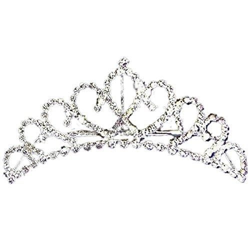 joylive Stylish Princess Crystal Austrian Rhinestone Tiara Hair Comb Crown -