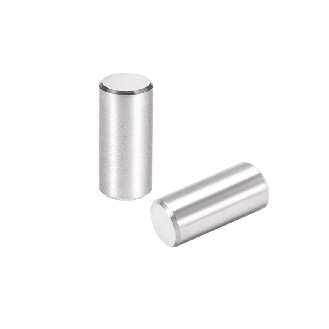uxcell 15Pcs 6mm X 55mm Dowel Pin 304 Stainless Steel Cylindrical Shelf Support Pin Fasten Elements Silver Tone