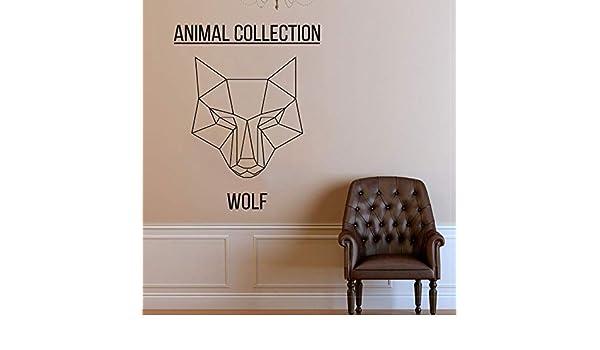 Apliques Cabeza de lobo poligonal Tatuajes de pared Animales ...
