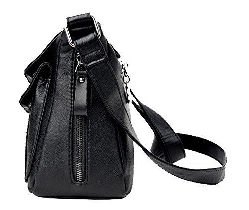 bandoulière Noir main Travail Body Sacs GMBBB181602 Zippers Sacs à à Cross AgooLar Noir Femme vWZxnn7