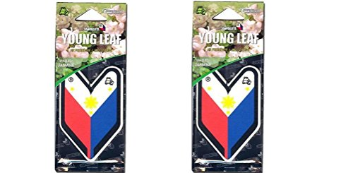 (Tree Frog Young Leaf Hanging Air Freshener x 2 (Philippines Flag))