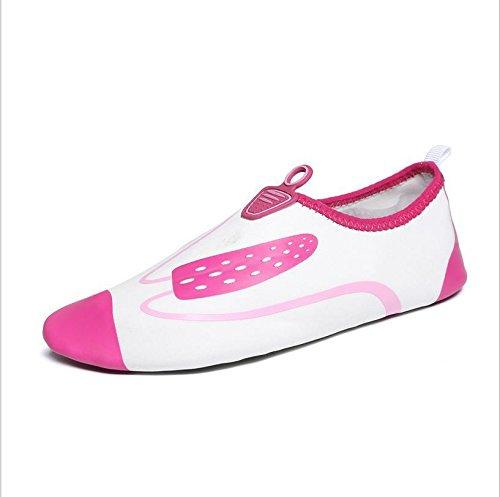 Lucdespo Mujer zapatos de Yoga Blanco
