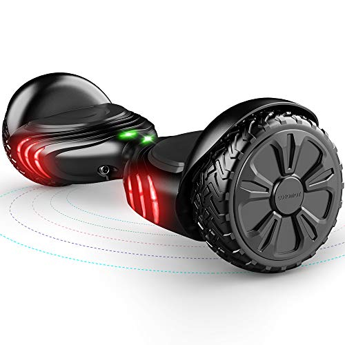 TOMOLOO Hoverboard with Bluetooth Speaker Smart Scooter Two-Wheel Self Balancing Electric Scooter and LED Lights - Black Hover Board with UL2272 Certified for for Adults and Children. ...