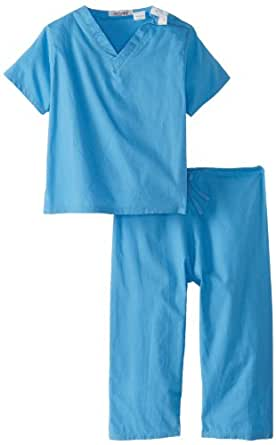 Scoots Toddler Scrubs, Blue, 2T
