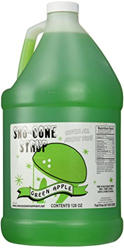 Concession Express Snow Cone Syrup 1 Gallon (Green Apple)
