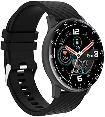 Smart Watch, Hongmed Fitness Watch with Blood Pressure Oxygen Monitor for Android Phones and iPhone Compatible, Waterproof Fitness Tracker for Men Women Black