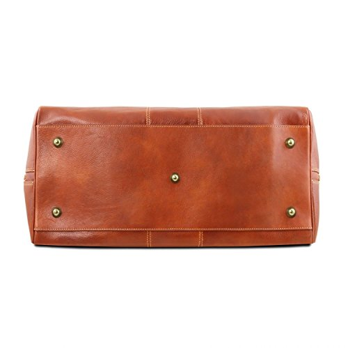 Tuscany Leather Lisbona Reiseledertasche - Klein - TL141658 (Dunkelbraun) Honig MaKiv9V