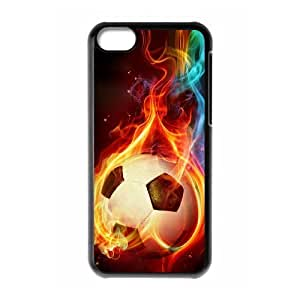 LZHCASE Diy Hard Shell Case Football For Iphone 5C [Pattern-1]
