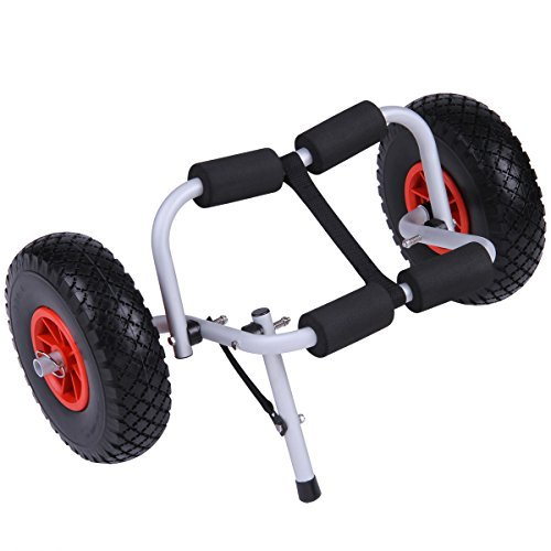 Excelvan KY-002 Aluminum Kayak Carts Jon Boat Dolly Trailer Hold up to 80 lbs by Excelvan