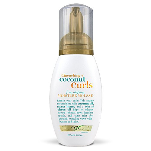 OGX Quenching   Coconut Curls Frizz-Defying Moisture Mousse, 8 Ounce