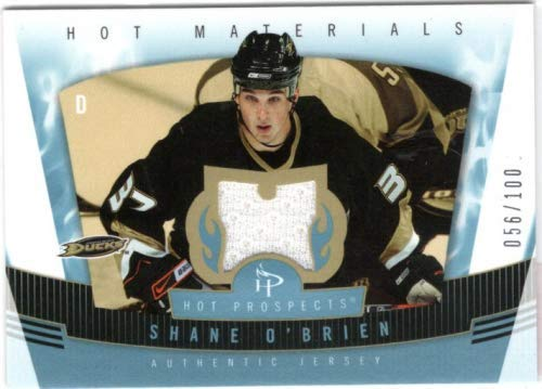 07 Hot Prospects Materials - 2006-07 Hot Prospects Hot Materials Red Hot #HMSO Shane O'Brien Jersey Card Serial #056/100 - Anaheim Ducks