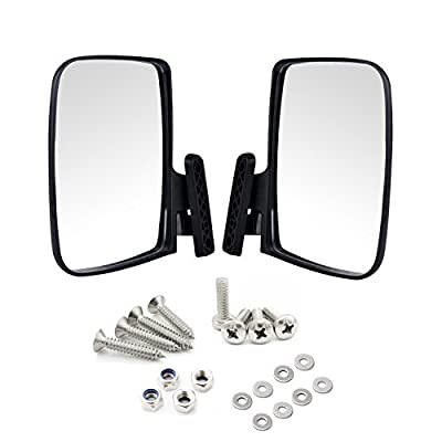 Universal Golf Cart Side View Mirrors for EzGo Club Car Yamaha,Moveland RHOX UTV Style Accessories