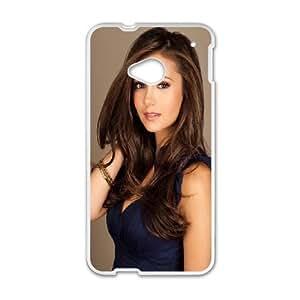 HTC One M7 Cell Phone Case White Nina Dobrev Tnkpb