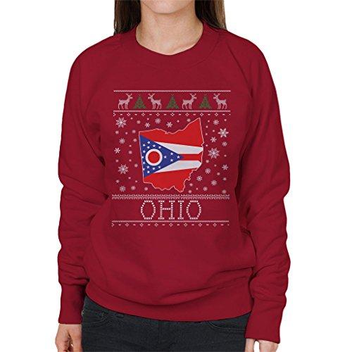 Coto7 Coto7 Coto7 Pattern Pattern Pattern Pattern Knit Christmas Women's Ohio Sweatshirt Red Cherry rnqrgS6xw