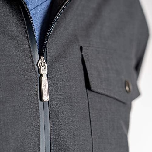 Woolly Clothing Men's NatureDry Outdoor Jacket – 100% Merino Wool