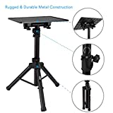 Pyle Laptop Projector Stand, Heavy Duty Tripod Height Adjustable 16\'\' To 28\' For DJ Presentations Notebook Computer