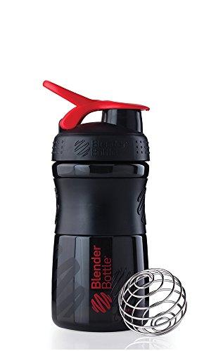 Blender Bottle SportMixer 20 oz. Tritan Grip Shaker - Black/
