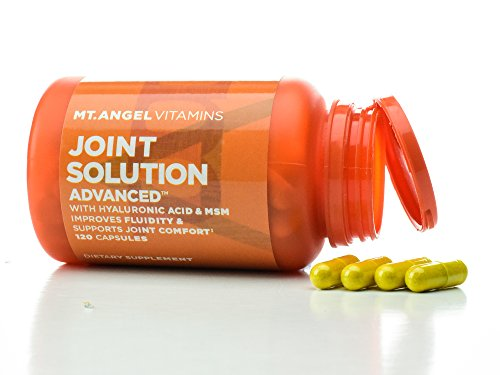 Mt. Angel Vitamins - Joint Solution Advanced, With Curcumin C3 Complex, Glucosamine, Hyaluronic Acid, Bromelain, Collagen Type 2 & MSM, Improves Fluidity & Supports Joint Comfort (120 Capsules) (Glucosamine Advanced)