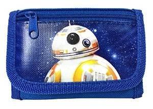 New Disney Star Wars The Force Awaken New Robot BB-8 Tri Fold Wallet - Blue