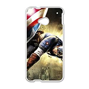 DAZHAHUI Captain America Super Soldier Cell Phone Case for HTC One M7