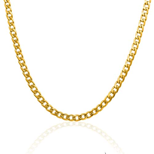 Nakabh Elegant Statement Hot Fashion Stainless Steel Necklace Chain Mens Boys (Design 2701)