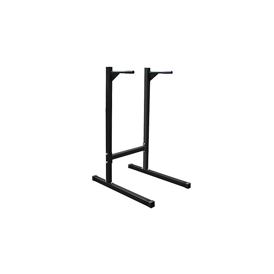 Super Deal Heavy Duty Dip Stand Parallel Bar Bicep Triceps Home Gym Dipping Station Gym 500lbs (#6)