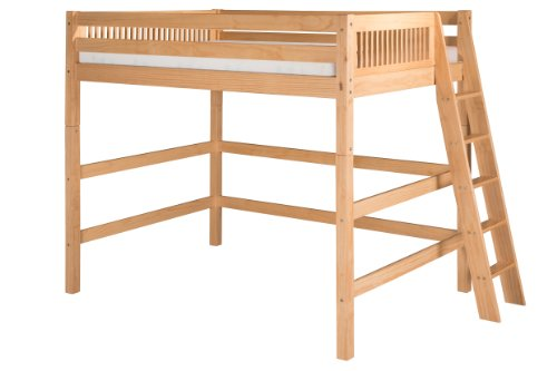 Camaflexi Mission Style Solid Wood High Loft Bed, Full w/...