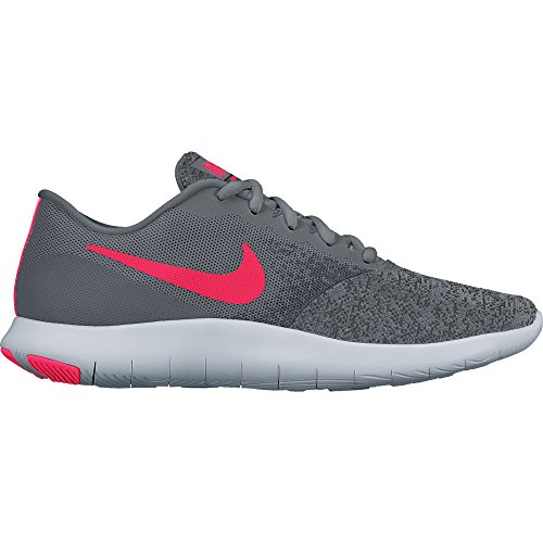 NIKE Womens Flex Contact Shoes Cool Grey Solar Red Anthracite Size 7