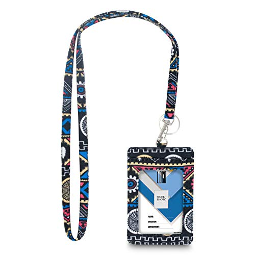 Limeloot Tribal Lanyard with ID Badge Holder and Key Ring