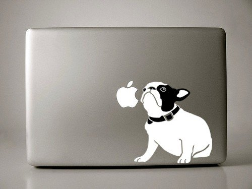 "Bella the French Bulldog Sitting Decal for 13"" Macbook"