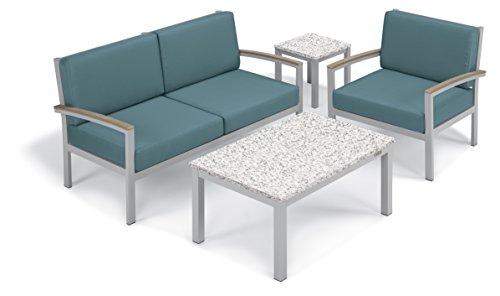 Oxford Garden Designs Travira 4-Piece Chat Set - Powder C...
