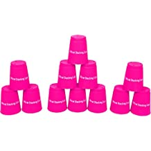 Trademark Innovations Quick Stack Cups, Speed Training Sports Stacking Cups, Set of 12, Pink