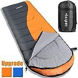 sleeping bag - VINIPER Sleeping Bag, Comfort Waterproof and Lightweight Envelope Sleeping Bag With Compression Sack Perfect for 4 Season Traveling, Camping, Hiking, Outdoor Fit Kid Women Men (Orange)