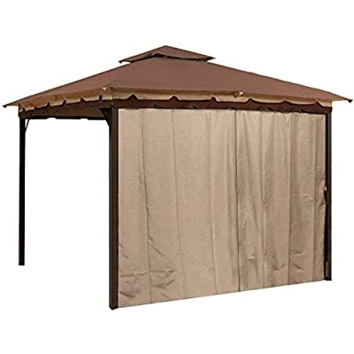 Sunjoy L-GZ436PFB Gazebo Privacy Panel Side Wall fits 10' and 12' Gazebos : Garden & Outdoor