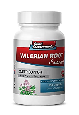 valerian root lemon balm - Valerian Root Extract 4:1 125mg - Herbal Valerian Root Supplement for Natural Anxiety Relief (1 bottle 100 capsules)