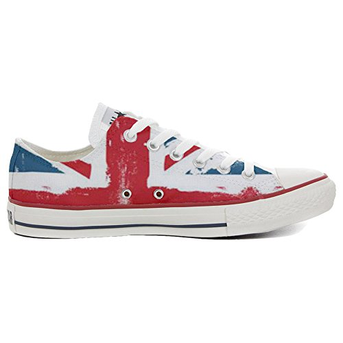 personalisierte Schuhe Low Star Customized All Converse Handwerk Schuhe England xIqBpwT