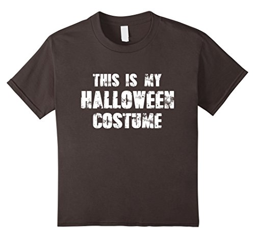 Kids This Is My Halloween Cotume - Funny Halloween Costume T-Shir 12 Asphalt - Halloween Cotumes