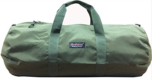 (Fire Force Cordura Deluxe Duffel Bag Made in USA (Medium 30x14, Olive Green) )