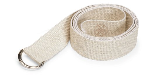 Gaiam Eco Conscious Organic Cotton Yoga Strap (Natural)