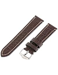 Hirsch Knight Brown Alligator Embossed Leather Watch Strap 109028-10-22